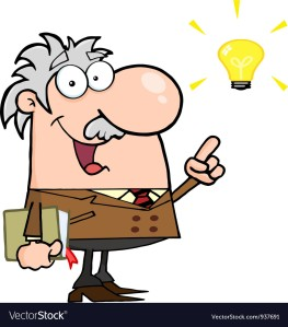 professor-with-a-bright-idea-vector-937691