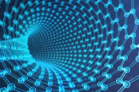 3d,Illustration,Nanotechnology,,Glowing,Hexagonal,Geometric,Form,Close-up,,Concept,Graphene